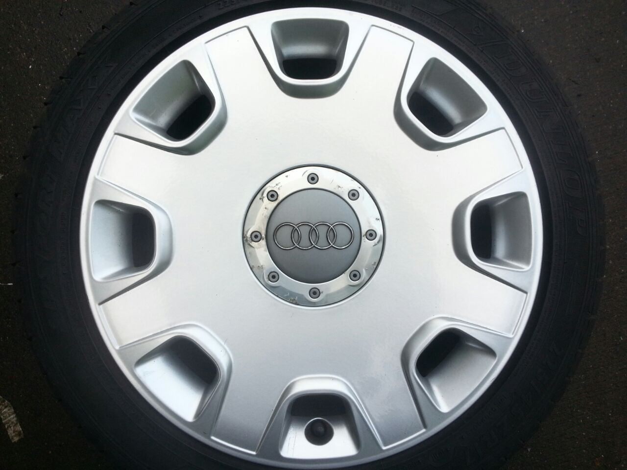 17 Inch Set Originele Audi A8 Velgen 5x112 Hazeleger